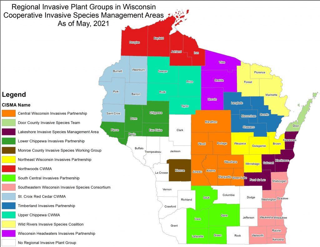 map of CISMAs in WI